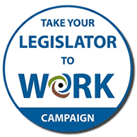 Take Your Legislator to Work Logo Image