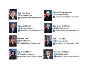 Social media contacts for Congress