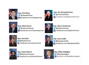 Social media contacts for Congress