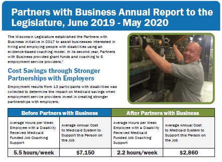 Partners with Business Annual Report to the Legislature