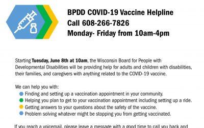 BPDD COVID-19 Vaccine Helpline